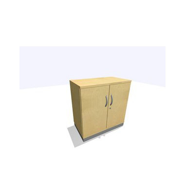Aktenschrank ClassicLine SBBCC22-A9A9A9A9K0D0DD0003M, Holz/Stahl abschließbar, 2 OH, 80 x 82 x 45 cm, inkl. Montage, ahorn