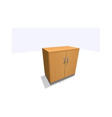 Aktenschrank ClassicLine SBBCC22-B8B8B8B8K0D0DD0003, Holz/Stahl abschließbar, 2 OH, 80 x 82 x 45 cm, buche