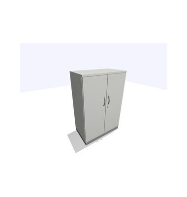 ClassicLine Aktenschrank grau 80 x 45 x 120 cm 2 Türen