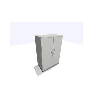 Aktenschrank ClassicLine SBBCE22-A1A1A1A1K0D0DD0003, Holz/Stahl abschließbar, 2 OH, 80 x 120 x 45 cm, lichtgrau