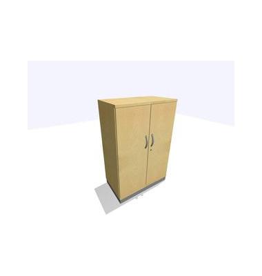 Aktenschrank ClassicLine SBBCE22-A9A9A9A9K0D0DD0003M, Holz/Stahl abschließbar, 2 OH, 80 x 120 x 45 cm, inkl. Montage, ahorn