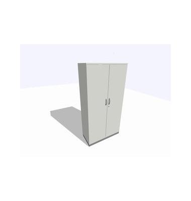 ClassicLine Akten-/Garderobenschrank grau 100 x 45 x 198 cm 4 Böden inkl. Montage