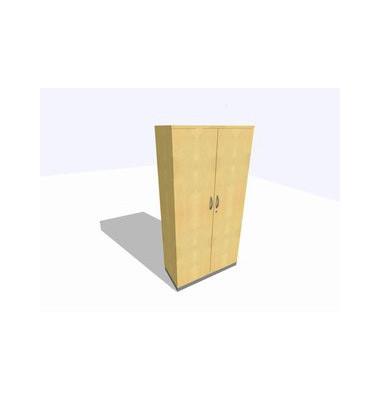 Akten-/Garderobenschrank ClassicLine SBBCI24-A9A9A9A9K0D0DD0006, Holz/Stahl abschließbar, 5 OH, 100 x 198 x 45 cm, ahorn