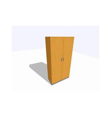 Akten-/Garderobenschrank ClassicLine SBBCI24-B8B8B8B8K0D0DD0006, Holz/Stahl abschließbar, 5 OH, 100 x 198 x 45 cm, buche