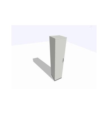 Aktenschrank ClassicLine K1DBAV6404-A1A1A1K0S0D0, Holz/Stahl abschließbar, 5 OH, 40 x 198 x 45 cm, lichtgrau