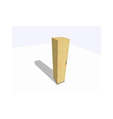 Aktenschrank ClassicLine K1DBAV6404-A9A9A9K0S0D0, Holz/Stahl abschließbar, 5 OH, 40 x 198 x 45 cm, ahorn