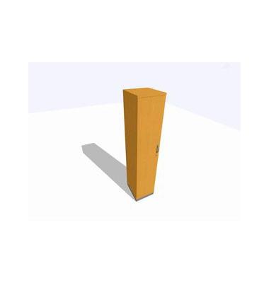 Aktenschrank ClassicLine K1DBAV6404-B8B8B8K0S0D0, Holz/Stahl abschließbar, 5 OH, 40 x 198 x 45 cm, buche