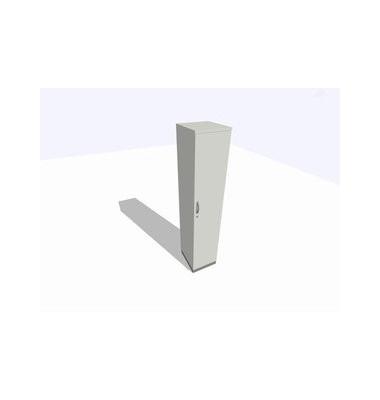 Aktenschrank ClassicLine K1DBAV6405-A1A1A1K0S0D0, Holz/Stahl abschließbar, 5 OH, 40 x 198 x 45 cm, lichtgrau