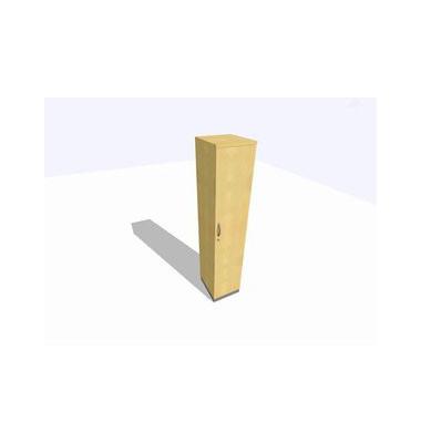 Aktenschrank ClassicLine K1DBAV6405-A9A9A9K0S0D0, Holz/Stahl abschließbar, 5 OH, 40 x 198 x 45 cm, ahorn