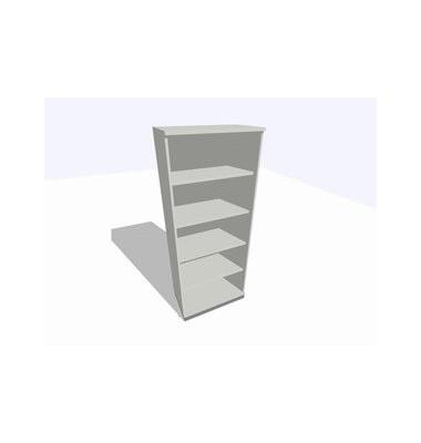 ClassicLine Regalschrank grau 80 x 45 x 198 cm 4 Böden