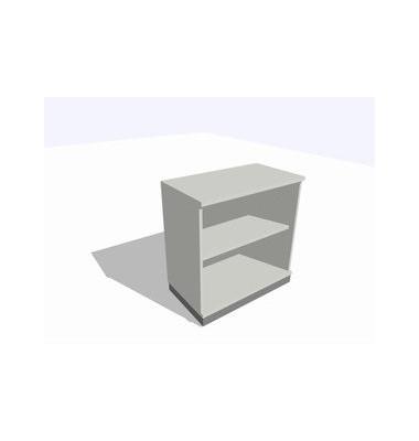ClassicLine Regalschrank grau 80 x 45 x 82 cm 1 Boden inkl. Montage