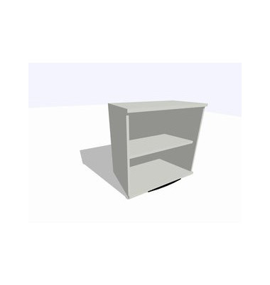 ClassicLine Regalaufsatz grau 80 x 45 x 77 cm 1 Boden