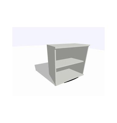 ClassicLine Regalaufsatz grau 80 x 45 x 77 cm 1 Boden inkl. Montage