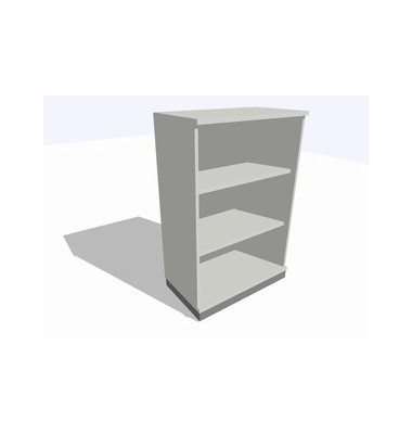 ClassicLine Regalschrank grau 80 x 45 x 120 cm 2 Böden