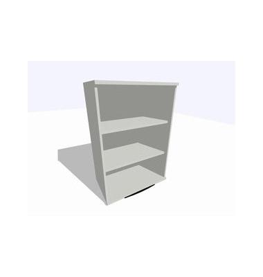 ClassicLine Regalaufsatz grau 80 x 45 x 115 cm 2 Böden