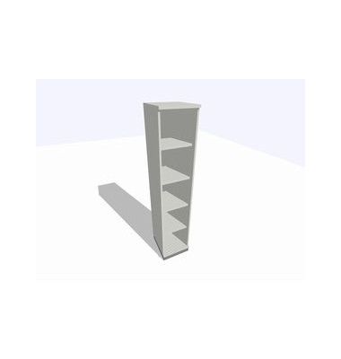 ClassicLine Regalschrank grau 40 x 45 x 198 cm 4 Böden