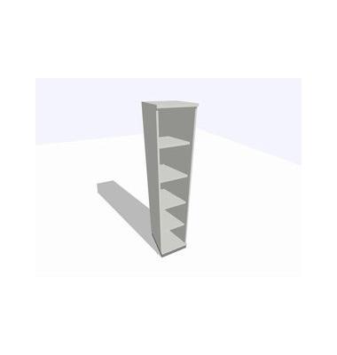 ClassicLine Regalschrank grau 40 x 45 x 198 cm 4 Böden inkl. Montage