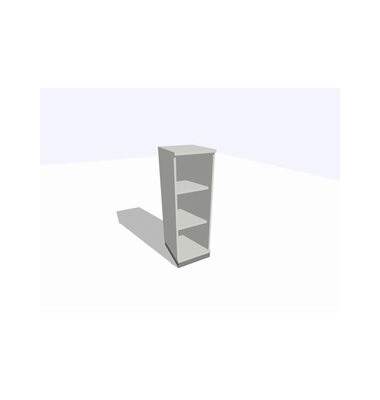 ClassicLine Regalschrank grau 40 x 45 x 120 cm 2 Böden