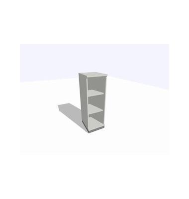 ClassicLine Regalschrank grau 40 x 45 x 120 cm 2 Böden inkl. Montage