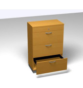 Registraturschrank 3OH Buche D. 80x45x120 R/T/S/M