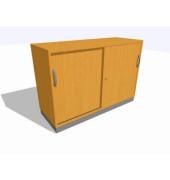 Schiebetürschrank 2OH Buche D. 120x45x82 R/T/S/M