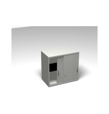 Schiebetürschrank 2OH Aufsatz li.grau 120x45x77 R/T/S/M