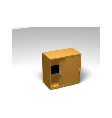 Schiebetürschrank 2OH Aufsatz Buche D. 120x45x77 R/T/S/M