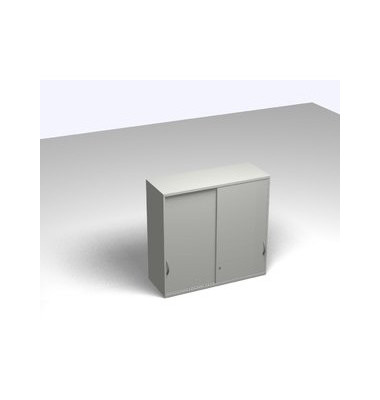 Schiebetürschrank 3OH Aufsatz li.grau 120x45x115 R/T/S/M