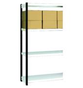Regalfeld Stora 100 x 60 x 190 cm schwarz/lichtgrau 4 Böden