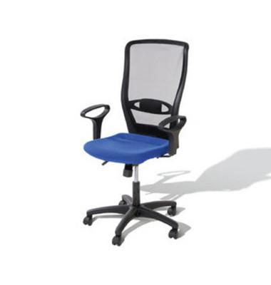 Bürodrehstuhl Younico 4 Tec ohne Armlehnen blau (Montage)