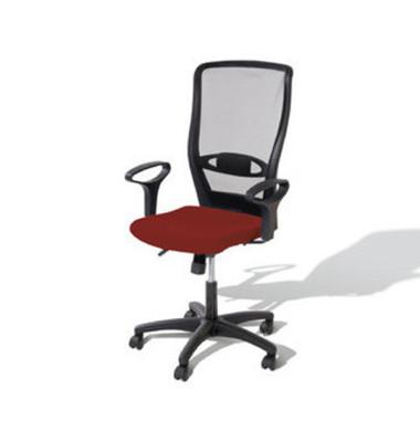 Bürodrehstuhl Younico 4 Tec ohne Armlehnen rot