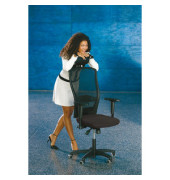 Bürodrehstuhl Younico 5 Tec ohne Armlehnen schwarz