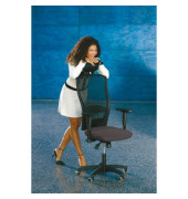 Bürodrehstuhl Younico 5 Tec ohne Armlehnen grau