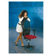 Bürodrehstuhl Younico 5 Tec ohne Armlehnen rot (Montage)