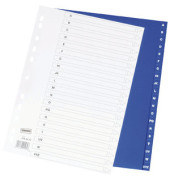 Register A-Z  A4 0,12mm blaue Taben 20-teilig