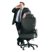 Chefsessel XXXL Kopfstütze + Armlehnen bis 200kg schwarz (Montage)