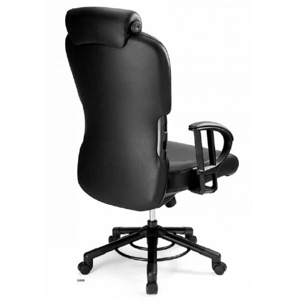 head chefsessel xxxl kopfst tze armlehnen bis 200kg schwarz montage. Black Bedroom Furniture Sets. Home Design Ideas