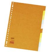 Kartonregister blanko A4 220g farbige Taben 10-teilig