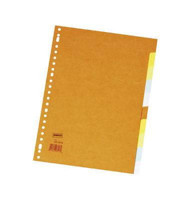 Kartonregister 2810612 blanko A4 220g farbige Taben 10-teilig