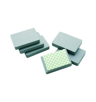 Magnete bis 2,5kg rechteckig grau mit Klebestreifen