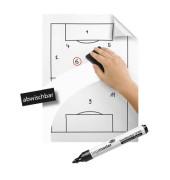 Flipchartfolienrollen MagicChart weiß 60cm x 20m 25 Blatt