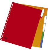 Kunststoffregister 2905480 blanko A4+ 0,12mm farbige Fenstertaben zum wechseln 5-teilig