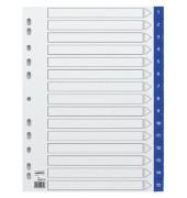 Kunststoffregister 3028736 1-15 A4 0,12mm blaue Taben 15-teilig