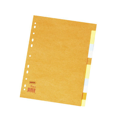Kartonregister blanko A4 220g farbige Taben 12-teilig