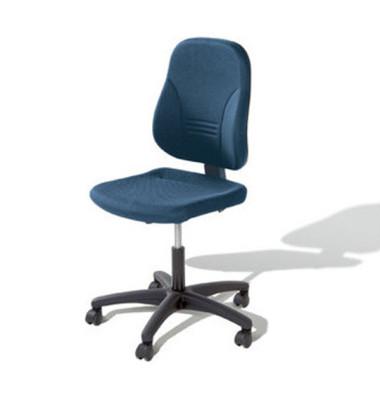Bürodrehstuhl Younico 2 Tec ohne Armlehnen blau (Montage)