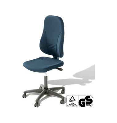 Bürodrehstuhl Younico 3 Tec ohne Armlehnen blau