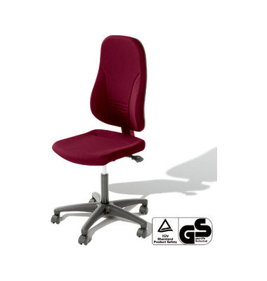Bürodrehstuhl Younico 3 Tec ohne Armlehnen rot (Montage)