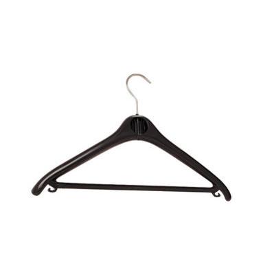 Kleiderbügel Kunststoff schwarz 45cm Breit 20 Stück Hacken drehbar