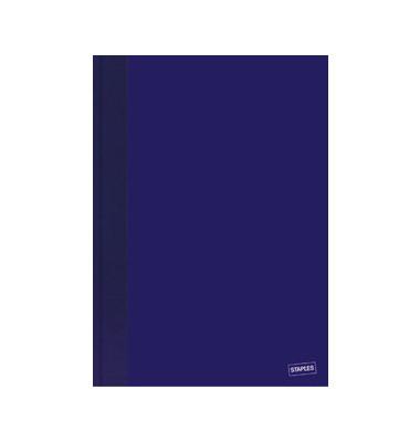 Memobuch 3363903 A5 kariert blau 96 Blatt