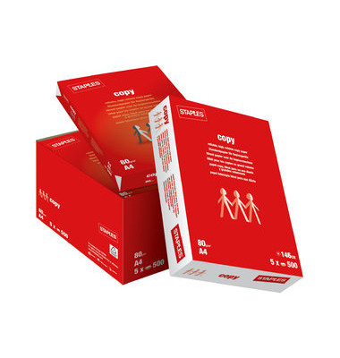 Copy A4 80g Kopierpapier weiß 5x 500 Blatt / 1 Karton